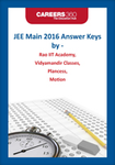 JEE Main 2016 Answer Keys by Leading Coaching Institutes