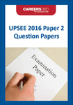 UPSEE 2016 Paper 2 Question Papers