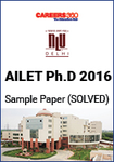 AILET Ph.D 2016 Sample Paper - Solved