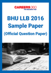 BHU LLB Sample Paper 2016