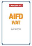 AIFD WAT Sample Papers