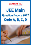 JEE Main Question Papers 2017 - Code A, B, C, D