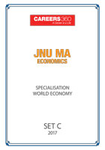JNU MA Economics World Economy Sample Papers 2017– Set C