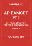 AP EAMCET 2018 OFFICIAL QUESTION PAPERS & ANSWER KEYS SHIFT 1