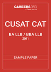 CUSAT CAT 5-year Integrated Sample Paper 2011
