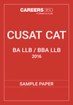 CUSAT CAT 5-year Integrated Sample Paper 2016