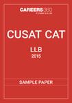 CUSAT CAT LLB Sample Paper 2015