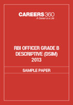 RBI Officer Grade B Descriptive Sample Paper (DSIM) 2013
