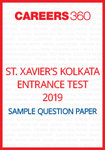 St. Xavier's Kolkata Entrance Test Sample Question Paper
