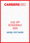 ICSE 10th Economics Specimen Question Paper 2020