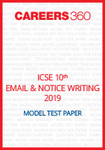 ICSE 10th Email & Notice Writing Sample Paper 2019
