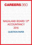 Nagaland Board 12th Accountancy Question Paper 2016