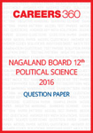 Nagaland Board 12th Political Science Question Paper 2016