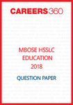 MBOSE HSSLC 2018 Question Paper Education