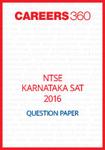 NTSE Karnataka SAT Question Paper 2016