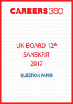 UK Board 12th Sanskrit Question Paper 2017