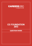 CS Foundation Question Papers 2013