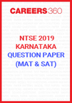 NTSE Karnataka Question Paper 2019