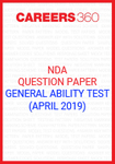NDA Question Paper (April 2019) General Ability Test