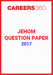 JEHOM Question Paper 2017