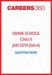 Sainik School 2019 Question paper for Class 6 Set-A (January 6)