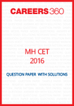 MH CET 2016 Question Paper with solutions