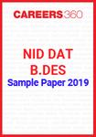 NID DAT Sample Paper 2019 B.Des