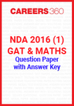 NDA 2016 1 (GAT & Maths) Question Paper & Answer Key