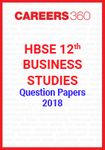 HBSE 12th Business Studies Question Papers 2018