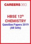 HBSE 12th Chemistry Question Paper 2019 (All Sets)