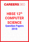 HBSE 12th Computer Science Question Papers 2018