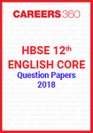 HBSE 12th English Core Question Papers 2018