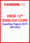 HBSE 12th English Core Question Paper 2019 (All Sets)