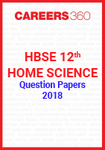 HBSE 12th Home Science Question Papers 2018