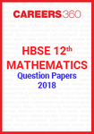 HBSE 12th Mathematics Question Papers 2018