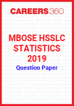 MBOSE HSSLC Statistics 2019 Question Papers