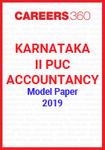 Karnataka II PUC Accountancy Model Paper 2019