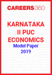Karnataka II PUC Economics Model Paper 2019