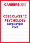 CBSE Class 12 Psychology Sample Paper 2020