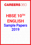 HBSE 10th English 2019 Sample Papers