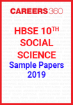 HBSE 10th Social Science 2019 Sample Papers