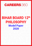 Bihar Board 12th Philosophy Model Paper 2020