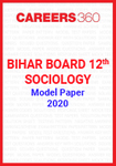 Bihar Board 12th Sociology Model Paper 2020