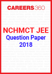 NCHMCT JEE Question Paper 2018