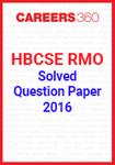 HBCSE RMO Solved Question Paper 2016