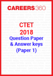 CTET 2018 Question Paper & Answer Keys - December (Paper 1)