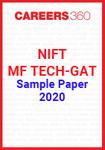NIFT Sample Paper 2020 - MF. Tech Program GAT