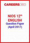NIOS 12th English Question Paper April 2017