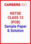 NSTSE Class 12 (PCB) Sample Paper and Solution