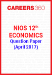 NIOS 12th Economics Question Paper April 2017